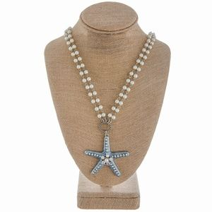 *NWT*BOUTIQUE* STUNNING LONG STARFISH NECKLACE SET
